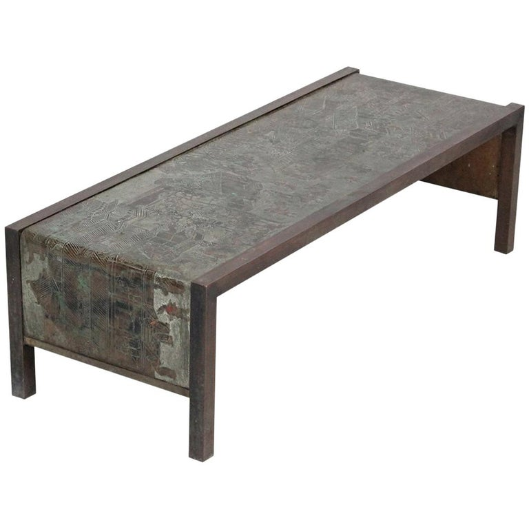 """Low """"Spring Festival"""" Coffee Table by Philip and Kelvin LaVerne For Sale"""