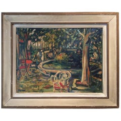 Sylvain Vigny Original Cityscape Painting Oil on Board