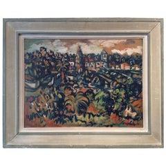 Sylvain Vigny Original Landscape Painting Oil on Board