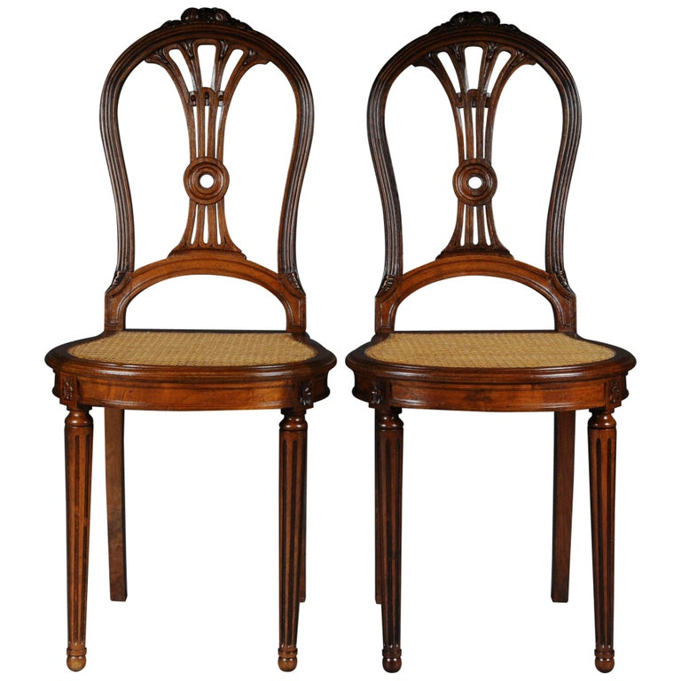 Pair of French Chairs Classicism 19th Century