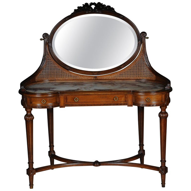 French Dressing Table / Vanity Table with Mirror Classicism