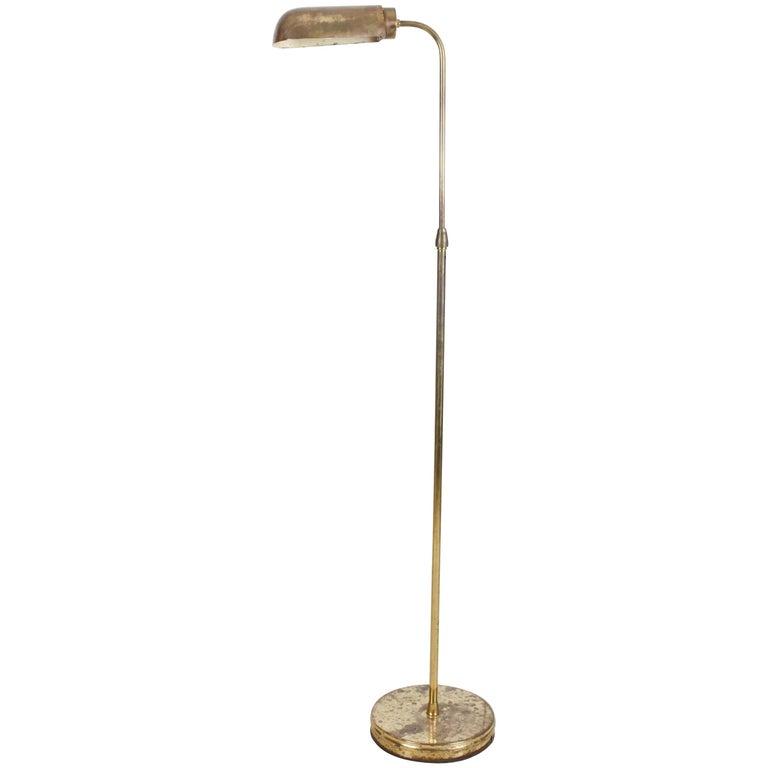 Art Deco Brass Floor Lamp