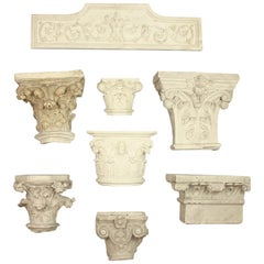 Collection of 19th Century Plaster Casts of Architectural Elements