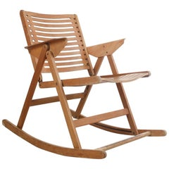 Vintage Rex Rocking Chair by Niko Kralj, 1950s