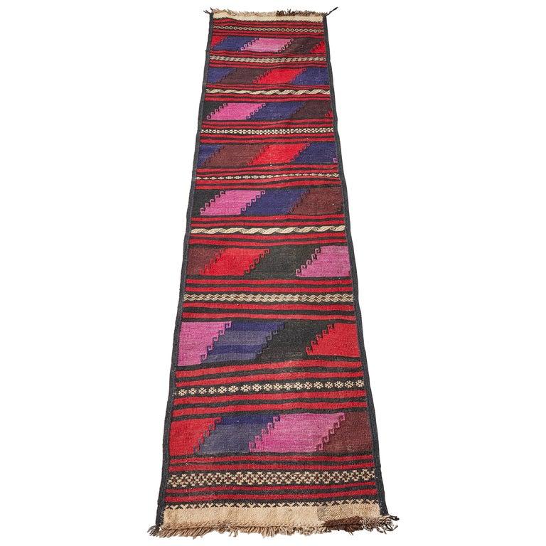 Vintage Afghan Kelim Runner For Sale
