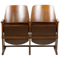 Vintage Cinema Two-Seater from Ton, Thonet, 1960s