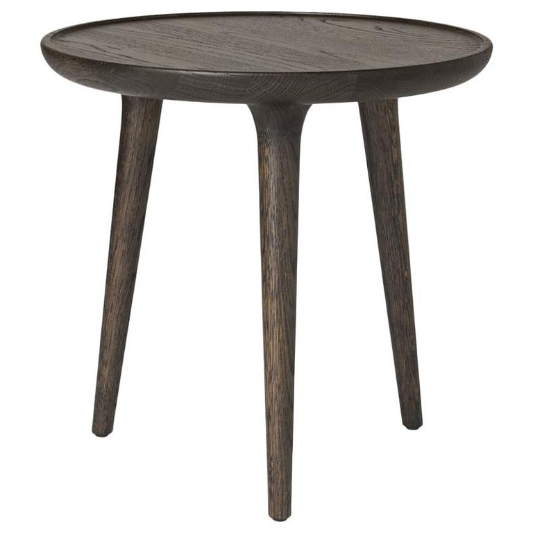 Accent Round Table S FSC Certified Oak Sirka Grey Stain by Mater Design