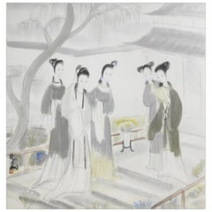 Gathering of Concubine, After Qing Dynasty Revival Artist Lin Fengmian