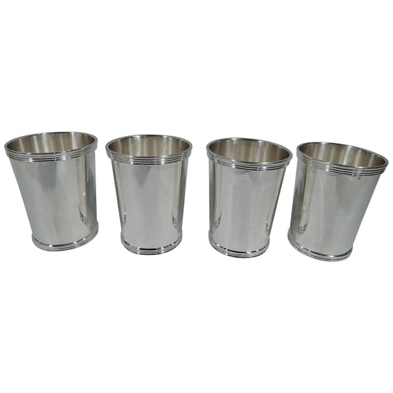 Set of 4 International Sterling Silver Mint Julep Cups