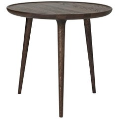 Accent Round Table L FSC Certified Oak Sirka Grey Stain by Mater Design