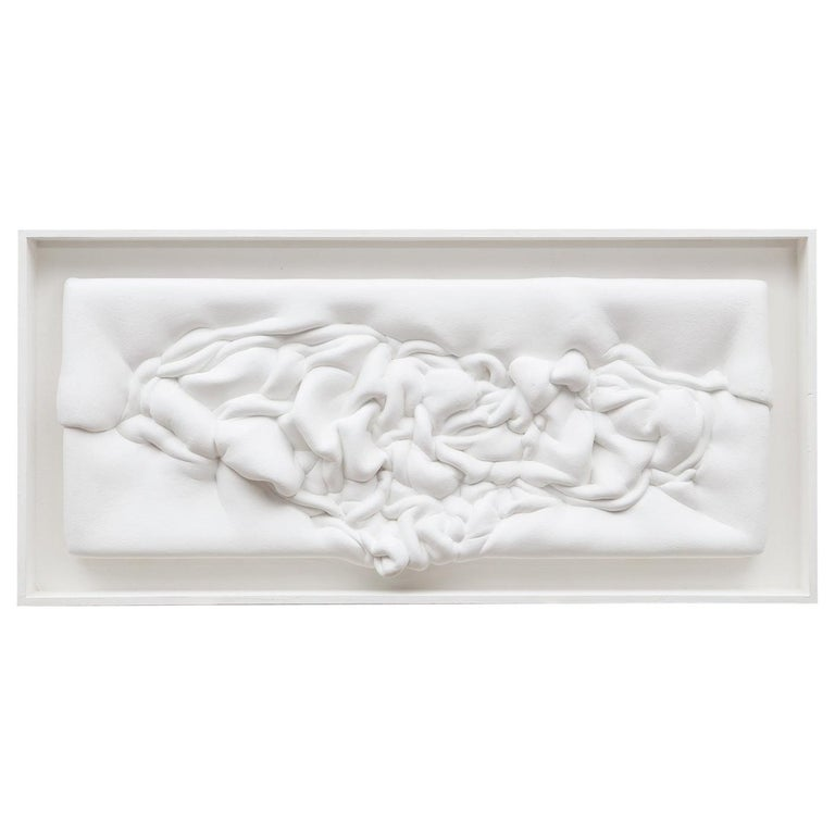 1970s White Wall Object by Artist Ferdinand Spindel 'b'