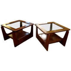 Pair of Small Coffee Tables or Scandinavian Style Sofa Ends, 1970s