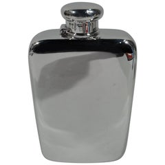 Bold and Modern Sterling Silver Flask by Tiffany