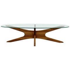 Mid-Century Modern Adrian Pearsall 'Jacks' Glass Top Coffee Table