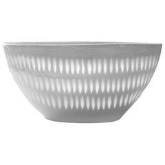 Scandinavian Modern Rice Grains Porcelain Bowl by Holzer-Kjellberg, Arabia