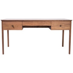 Desk by Tretiak Works, Handmade Contemporary Walnut Brass Customizable