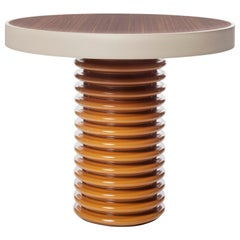 Contemporary QD03 Side Table with Walnut Wood Tabletop and Maple Wood Trim