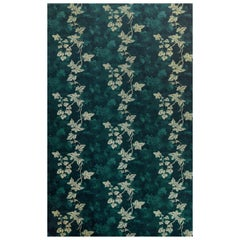 'Ivy' Contemporary, Traditional Wallpaper in Deep Green