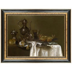 Still Life with Gilt Cup, After Empire Oil Painting by Willem Claesz