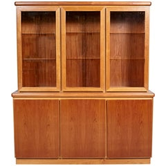 Danish Teak & Glass Hutch, 1970s