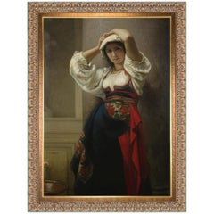Italienne, After French Academic Oil Painting by Charles Landelle