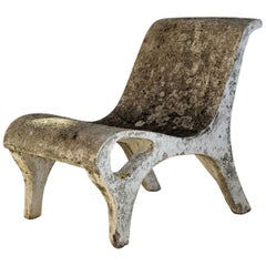 Modernist Armchair in Reinforced Concrete, France, 1950