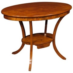 20th Century Round Mahogany Wood Dutch Side Table, 1920