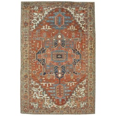 Large Antique Persian Serapi Rug