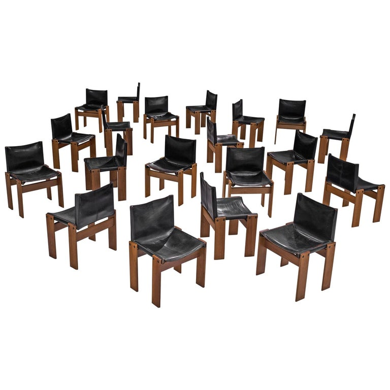 Tobia & Afra Scarpa for Molteni Twenty 'Monk' Chairs For Sale