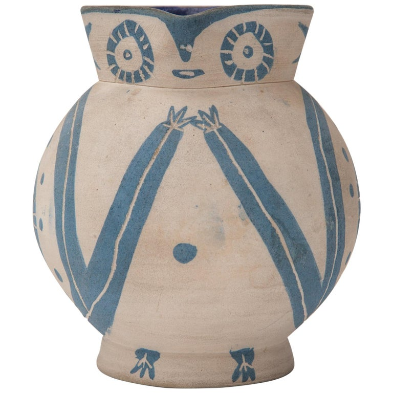 "Pablo Picasso, Madoura Ceramic Pitcher, ""Petite Chouette"",  1949, France For Sale"