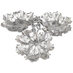Three-Leaf Sterling Silver Serving Dish by Buccellati