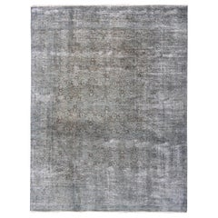 Faded Gray, Blue and Brown Distressed Persian Rug with Modern Design