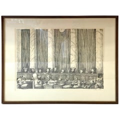 William Sharp Lithograph of United States Supreme Court