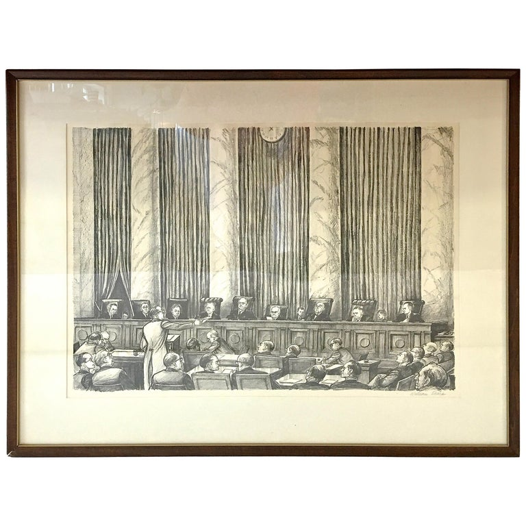 William Sharp Lithograph of United States Supreme Court For Sale