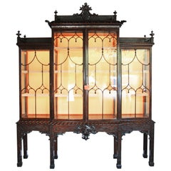 Mid-19th Century Chippendale Style China Cabinet in Mahogany