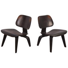 Pair of Eames Ebonized LCWs for Herman Miller