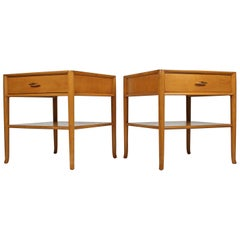 T.H. Robsjohn Gibbings for Widdicomb Bleached Walnut Nightstands