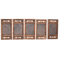 Chinese Antique Screen Set of 5, Small Cube Ming Design