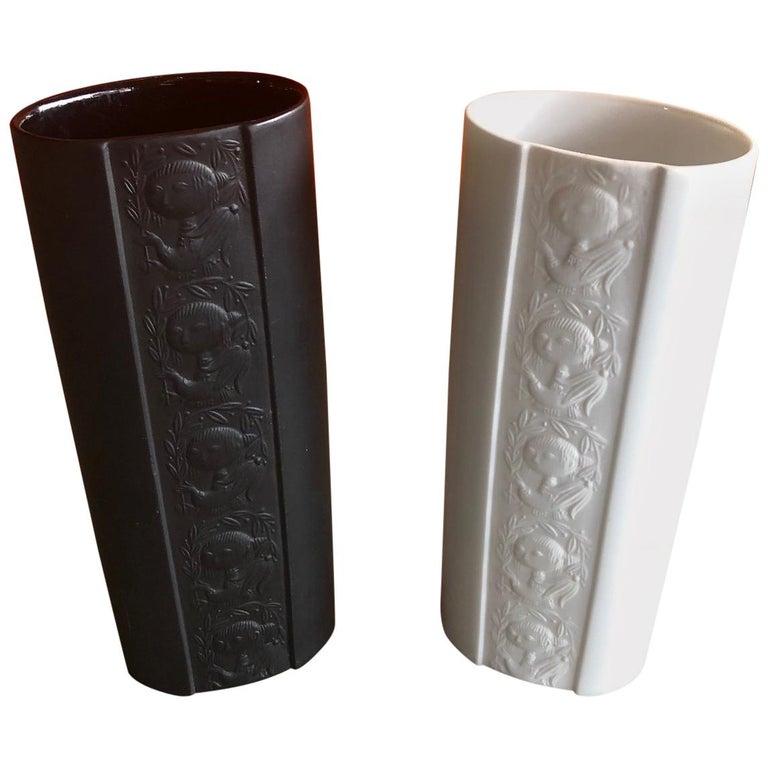 Pair of Studio Line Vases by Bjorn Wiinblad for Rosenthal For Sale