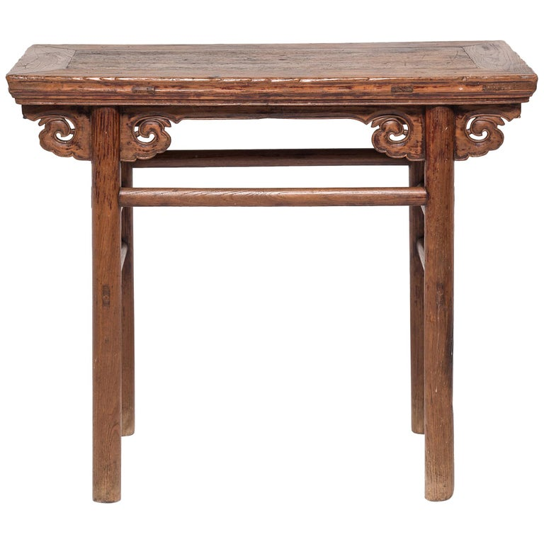 19th Century Chinese Wine Table with Cloud Spandrels