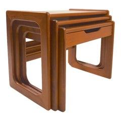 Danish Modern Nesting Tables in Teak attributed to Dyrlund