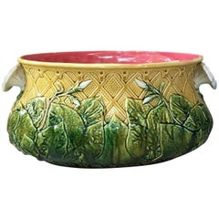 Majolica Morning Glory Jardiniere, circa 1890