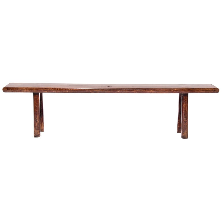19th Century Chinese Three Person Bench