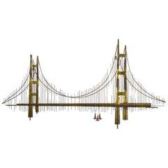 Brutalist Bridge Sculpture by Jere