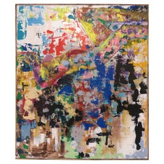 Large Scale Anonymous Abstract Midcentury Painting