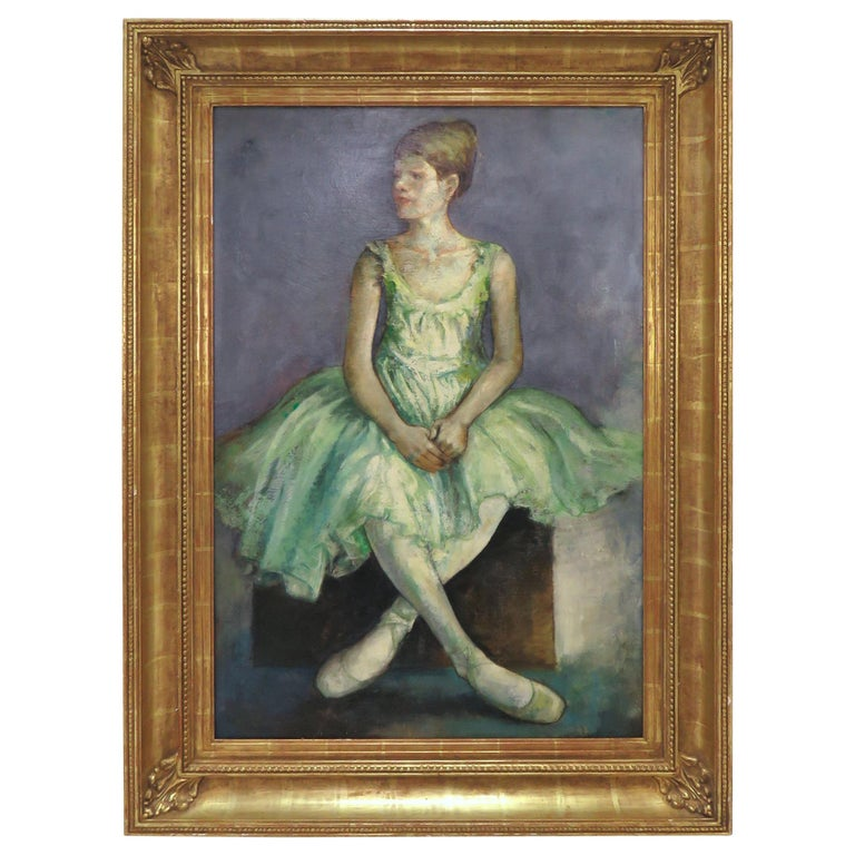 Portrait of an Elegant Young Ballerina by Charles Lanier, circa 1960s For Sale
