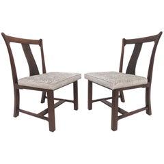 "Rare Pair of Edward Wormley for Dunbar ""Greene & Greene"" Side Chairs"