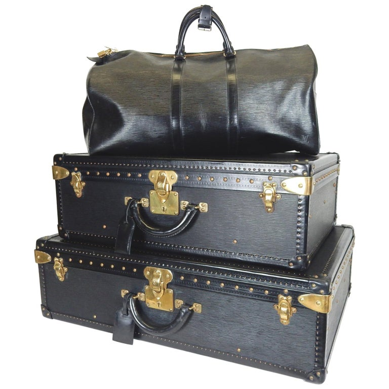 Special Edition Louis Vuitton Epi Luggage Set of Two Hard Cases and Duffel Bag