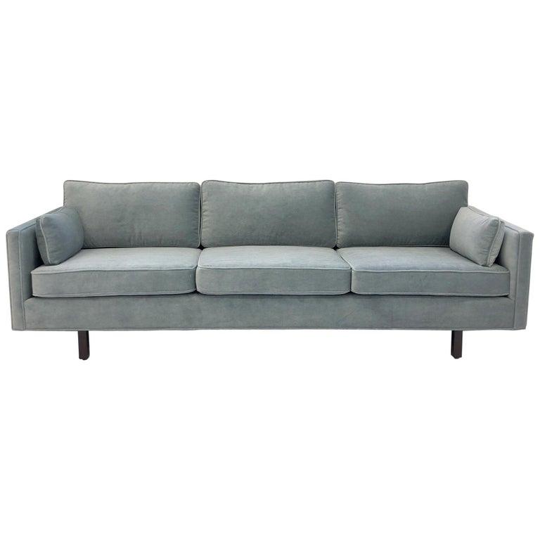 Custom Mohair Sofa By Carroll Beaupré Interiors For