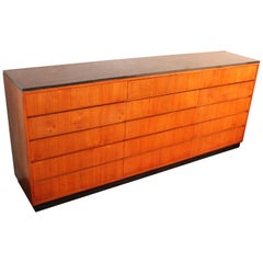 Wonderfull 1950s Chest of Drawers with a Pierre Bleue de Belgique Tablet